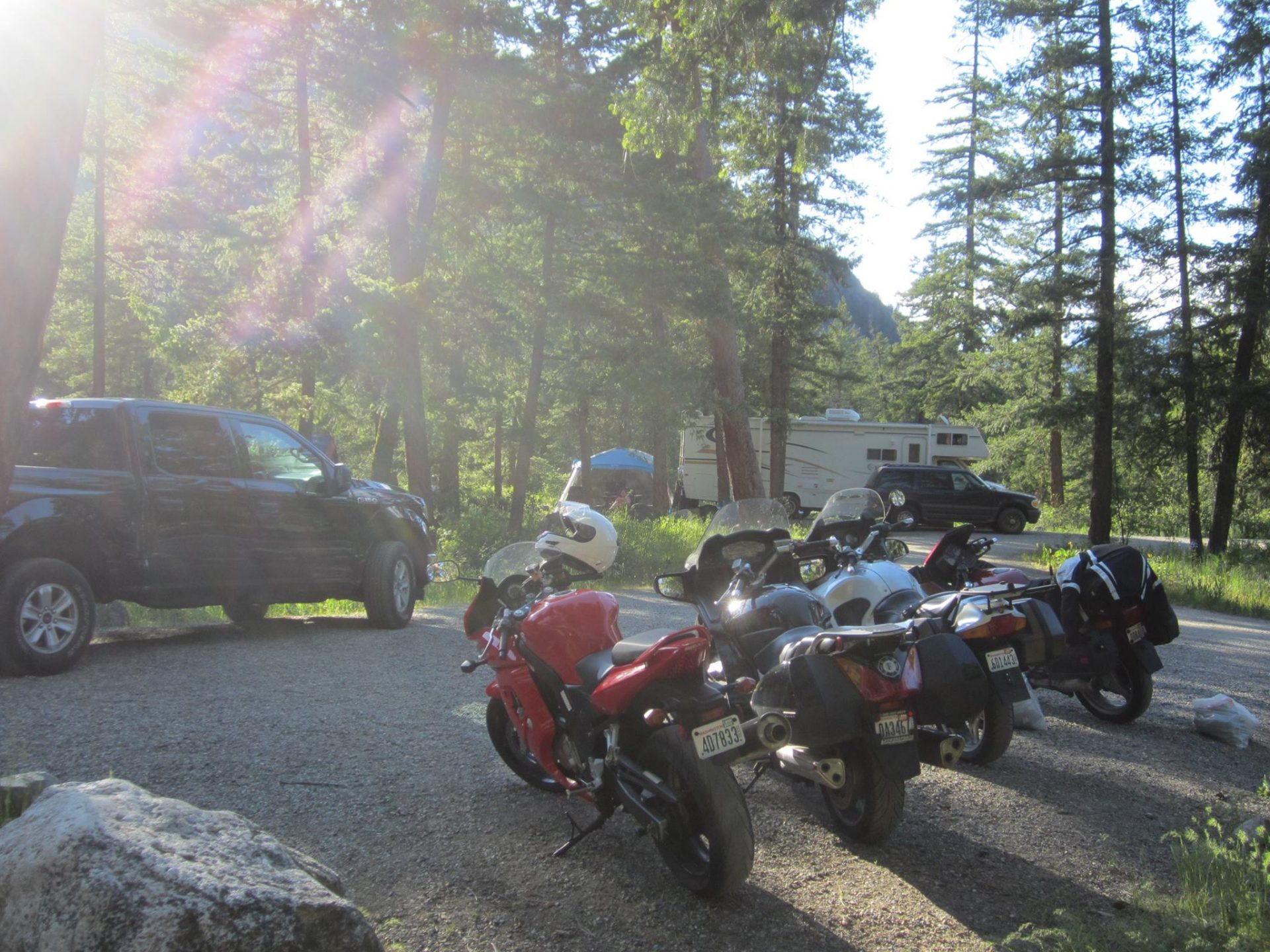 Campsite with Motos 2017