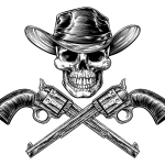 skull-cowboy-in-hat-and-a-pair-of-crossed-gun-revolver-handgun-six-J360KW